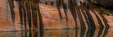 Stains from Water Seeps on Sandstone, Lake Powell, Glen Canyon National Recreation Area Photographic Print by  Panoramic Images