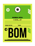 BOM Mumbai Luggage Tag I Print by  NaxArt