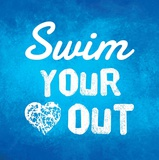 Swim Your Heart Out - Blue Kunstdrucke von  Sports Mania