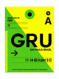GRU Sao Paulo Luggage Tag I Print by  NaxArt