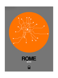Rome Orange Subway Map Posters by  NaxArt