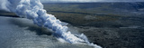 Smoke Erupting from Volcano at Coast, Hawaii Volcanoes National Park, Hawaii, USA Photographic Print by  Panoramic Images