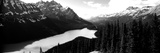 Mountain Range at the Lakeside, Banff National Park, Alberta, Canada Photographic Print by  Panoramic Images