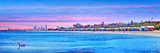 Beach Huts and Tourists on the Beach, Brighton the Beach, Melbourne, Victoria, Australia Photographic Print by  Panoramic Images