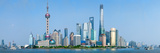 Skylines at the Waterfront, Oriental Pearl Tower, the Bund, Pudong, Huangpu River, Shanghai, China Photographic Print by  Panoramic Images