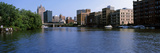Buildings at the Waterfront, Milwaukee River, Milwaukee, Wisconsin, USA Photographic Print by  Panoramic Images