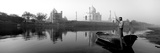 Reflection of a Mausoleum in a River, Taj Mahal, Yamuna River, Agra, Uttar Pradesh, India Photographic Print by  Panoramic Images