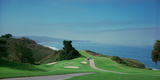 Golf Course at the Coast, Torrey Pines Golf Course, San Diego, California, USA Fotografisk trykk av Panoramic Images,
