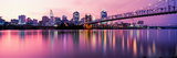 Suspension Bridge across the Ohio River with Skyscrapers in the Background, Cincinnati, Ohio, USA Photographic Print by  Panoramic Images