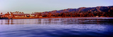 View of City at Waterfront from the Pier, Santa Barbara, California, USA Photographic Print by  Panoramic Images