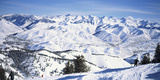Tourists Skiing in Snow Covered Landscape, Sun Valley, Blaine County, Idaho, USA Photographic Print by  Panoramic Images