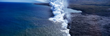 Steam Rising Off Lava Flowing into Ocean, Hawaii Volcanoes National Park, Big Islands, Hawaii, USA Photographic Print by  Panoramic Images
