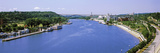 High Angle View of a River, Mississippi River, St. Paul, Minnesota, USA Photographic Print by  Panoramic Images
