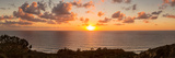 Sunset over the Pacific Ocean, Torrey Pines State Natural Reserve, San Diego, San Diego County Fotografisk tryk af Panoramic Images