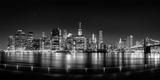 Illuminated Skylines at the Waterfront, Manhattan, New York City, New York State, USA Photographic Print by  Panoramic Images