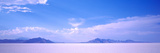 Salt Flats with a Mountain Range in the Background, Bonneville Salt Flats, Utah, USA Photographic Print by  Panoramic Images