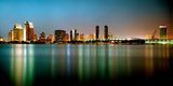 City Skyline at Night, San Diego, California, USA Photographic Print by  Panoramic Images