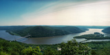 Elevated View of the Hudson River from Bear Mountain, Bear Mountain State Park Photographic Print by  Panoramic Images
