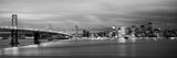 Bridge Lit Up at Dusk, Bay Bridge, San Francisco Bay, San Francisco, California, USA Photographic Print by  Panoramic Images