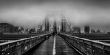 Fog over the Brooklyn Bridge, Brooklyn, Manhattan, New York City, New York State, USA Photographic Print by  Panoramic Images