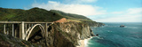 Bridge across Hills at the Coast, Bixby Bridge, Highway 101, Big Sur, California, USA Photographic Print by  Panoramic Images