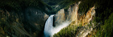 High Angle View of a Waterfall in a Forest, Lower Falls, Yellowstone River Photographic Print by  Panoramic Images