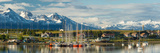 Small Boat Harbor and Snow Capped Mountains around Ushuaia, Tierra Del Fuego Province, Argentina Photographic Print by  Panoramic Images