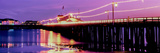 Pier Illuminated at Dusk, Stearns Wharf, Santa Barbara, California, USA Photographic Print by  Panoramic Images