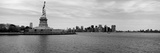 Statue of Liberty with Manhattan Skyline in the Background, Ellis Island, New Jersey Photographic Print by  Panoramic Images