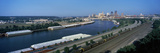 City at the Waterfront, Mississippi River, St. Paul, Minnesota, USA Photographic Print by  Panoramic Images