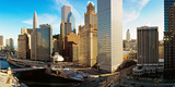 Buildings Along a River, Chicago River, Chicago, Illinois, USA Photographic Print by  Panoramic Images