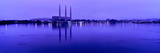 View of Power Plant at Dusk, Morro Bay, San Luis Obispo County, California, USA Photographic Print by  Panoramic Images