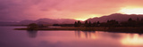 Lake at Sunset, Lake Tekapo, South Island, Canterbury, New Zealand Photographic Print by  Panoramic Images