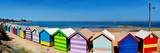 Beach Huts on the Beach, Brighton the Beach, Melbourne, Victoria, Australia Photographic Print by  Panoramic Images