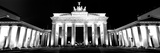 Low Angle View of a Gate Lit Up at Night, Brandenburg Gate, Berlin, Germany Photographic Print by  Panoramic Images