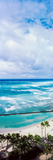 High Angle View of Ocean, Waikiki Beach, Oahu, Hawaii Islands, Hawaii, USA Photographic Print by  Panoramic Images
