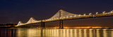 Suspension Bridge over Pacific Ocean Lit Up at Night, Bay Bridge, San Francisco Bay Photographic Print by  Panoramic Images