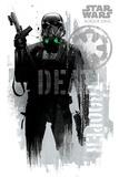 Star Wars: Rogue One- Death Trooper Faded Graffiti Poster