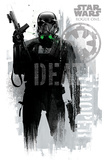 Star Wars: Rogue One- Death Trooper Faded Graffiti Prints
