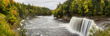 Elevated View of Waterfall, Tahquamenon Falls, Tahquamenon Falls State Park, Chippewa County Photographic Print by  Panoramic Images