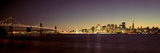 Bridge across a Bay with City Skyline in the Background, Bay Bridge, San Francisco Bay Photographic Print by  Panoramic Images