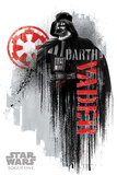 Star Wars: Rogue One- Darth Vader Faded Graffiti Poster