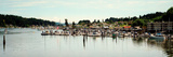 Boats Moored at a Harbor, Gig Harbor, Pierce County, Washington State, USA Photographic Print by  Panoramic Images