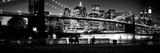 Suspension Bridge Lit Up at Dusk, Brooklyn Bridge, East River, Manhattan, New York City Photographic Print Panoramic Images