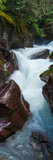 Elevated View of Creek Flowing Through Rocks, Avalanche Creek, Us Glacier National Park Photographic Print by  Panoramic Images