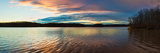 Reflection of Clouds in a Lake at Sunset, Stephen A. Forbes State Recreation Area Photographic Print by  Panoramic Images