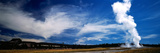 Smoke Erupting from a Geyser, Old Faithful, Upper Geyser Basin, Yellowstone National Park Photographic Print by  Panoramic Images