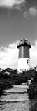 Low Angle View of Nauset Lighthouse, Nauset Beach, Eastham, Cape Cod, Barnstable County Photographic Print by  Panoramic Images