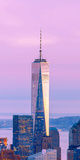 Illuminated One World Trade Center Amidst Buildings Against Sky in City at Dusk, Manhattan Photographic Print by  Panoramic Images