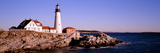 Lighthouse at the Coast, Portland Head Lighthouse, Cape Elizabeth, Maine, New England, USA Photographic Print by  Panoramic Images